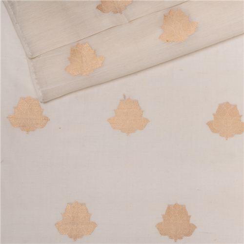 Ishra White Muslin Cotton Banarasi Fabric