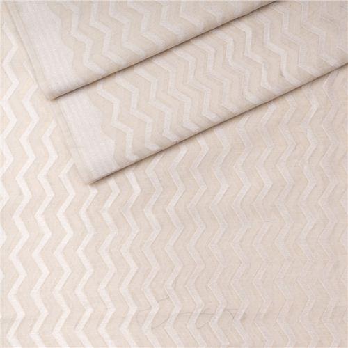 Shahteer Silver White Banarasi Cotton Fabric