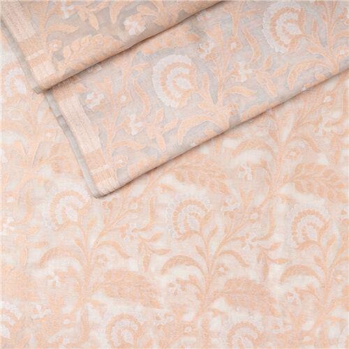 Alfiya Cream Kora Tussar Banarasi Fabric