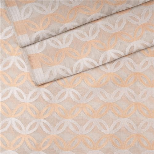 Safavid Pearl White Cotton Banarasi Fabric