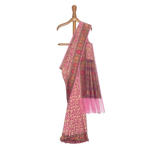 Niloufer Kora Silk Net Saree