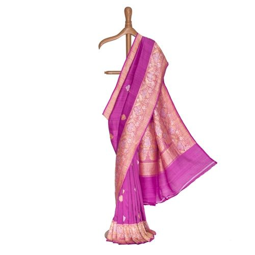 Ziba Banarasi Handwoven Chiffon Tussar Saree