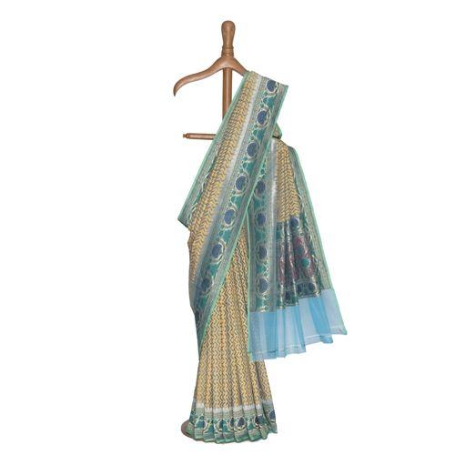 Amber Kora Silk Saree