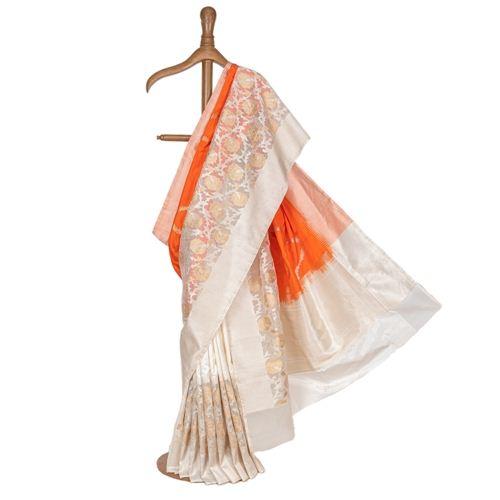Sufi Rangkat Kora Silk Saree