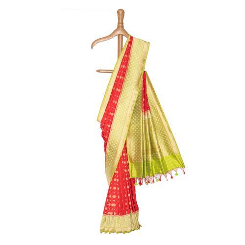 Chaudhani Gethua Banarasi Handwoven Silk Saree