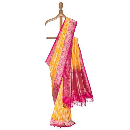 Genda Phool Gethua Banarasi Handwoven Silk Saree