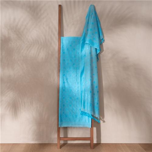 Kumud Blue Banarasi Handwoven Cotton Suit Set