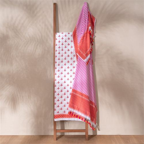 Bilva Banarasi Handwoven Cotton Suit Set