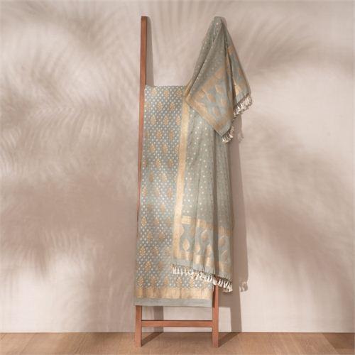 Saba Sage Banarasi Handwoven Cotton Suit Set