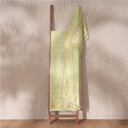 Saba Mint Banarasi Handwoven Cotton Suit Set