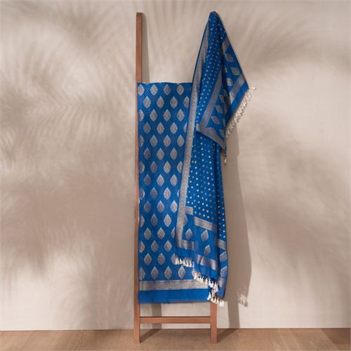 Jugni Royal Banarasi Handwoven Cotton Suit Set