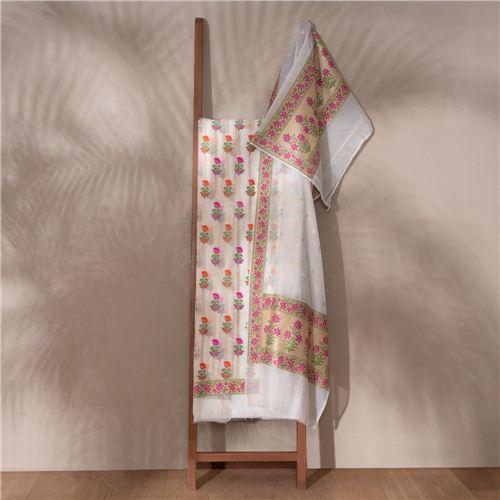 Fiza Banarasi Handwoven Cotton Suit Set