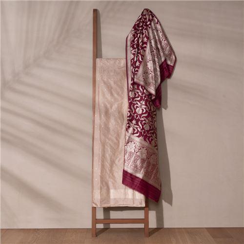 Noore Banarasi Handwoven Silk Suit Set