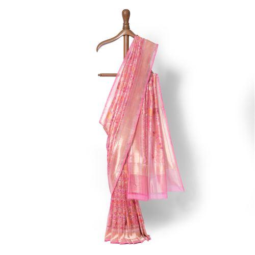 Sidra Real Zari Banarasi Handwoven Silk Saree