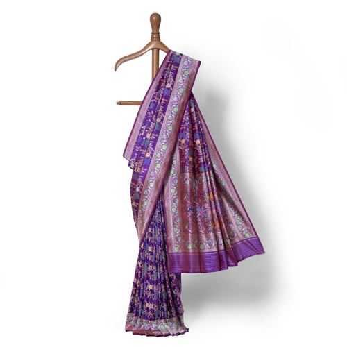 Banafsha Real Zari Banarasi Handwoven Silk Saree