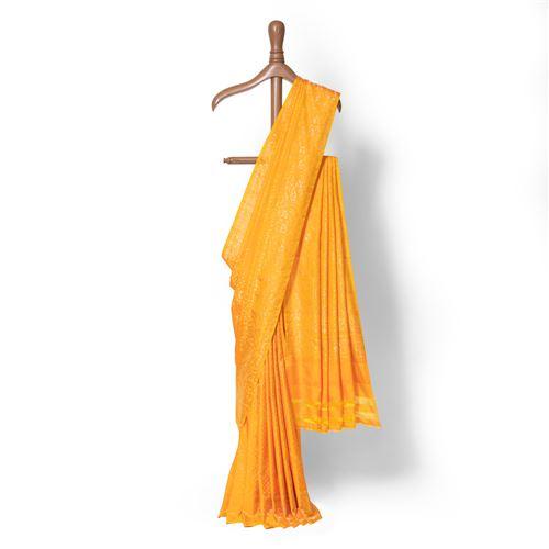 Aada Sunehri Real Zari Banarasi Handwoven Silk Saree
