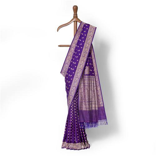 Tagar Bahaar Real Zari Banarasi Handwoven Silk Saree