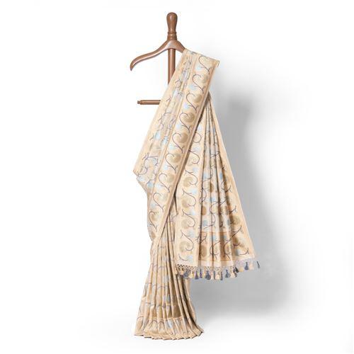 Khoshgel Real Zari Banarasi Handwoven Silk Saree