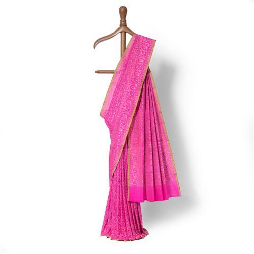 Dilkash Real Zari Banarasi Handwoven Silk Saree