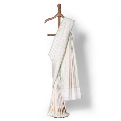 Aada Qamarun Real Zari Banarasi Handwoven Silk Saree