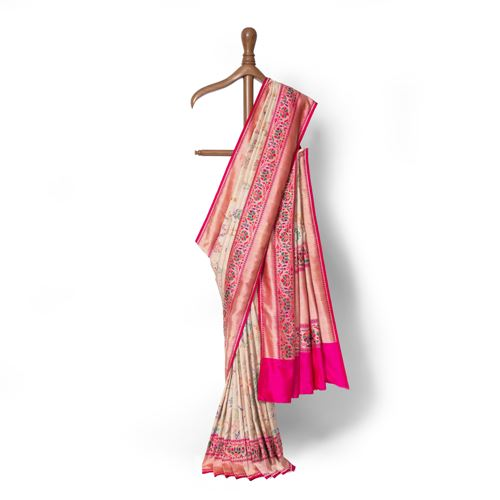 Divdar Real Zari Banarasi Handwoven Silk Saree