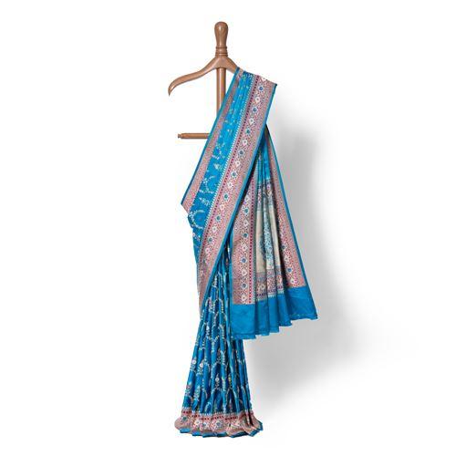 Sama Real Zari Banarasi Handwoven Silk Saree