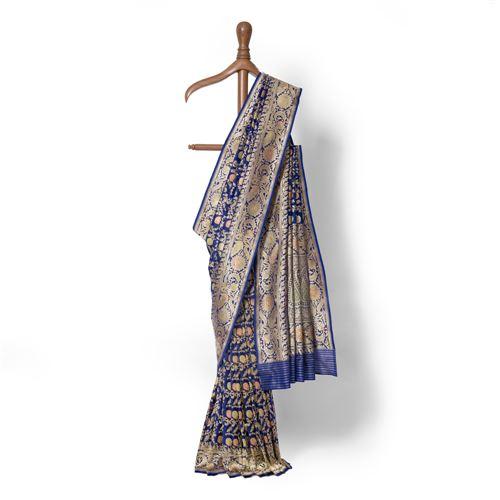 Mikhak Real Zari Banarasi Handwoven Silk Saree