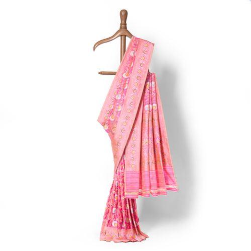 Joon Real Zari Banarasi Handwoven Silk Saree