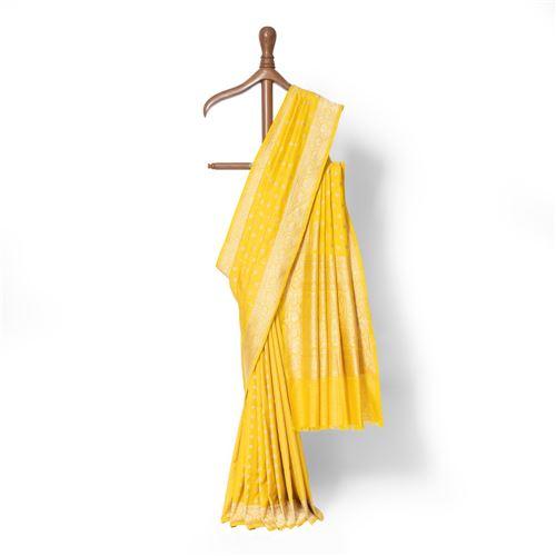 Chandani Real Zari Banarasi Handwoven Silk Saree