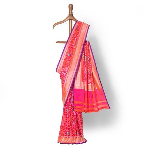 Gul Nikhat Real Zari Banarasi Handwoven Silk Saree
