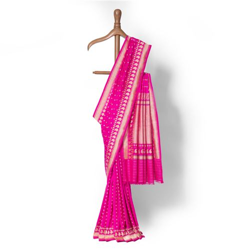 Juhi ki Sej Real Zari Banarasi Handwoven Silk Saree