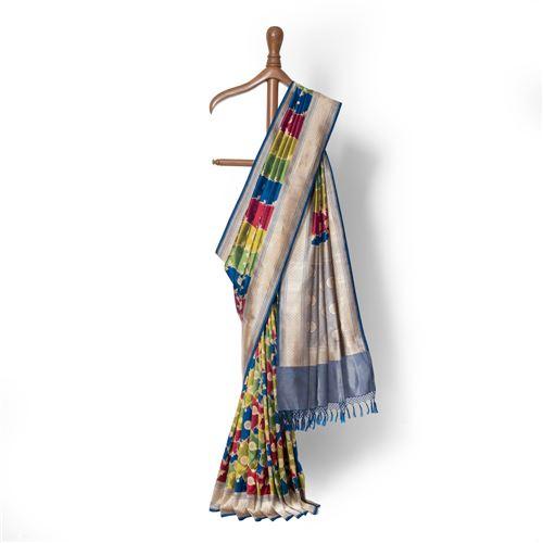Rangeeli Rangkat Real Zari Banarasi Handwoven Silk Saree