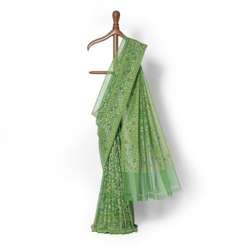 Joonam Real Zari Banarasi Handwoven Muslin Saree