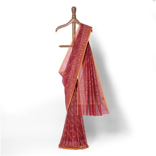 Aada Jana Real Zari Banarasi Handwoven Muslin Saree