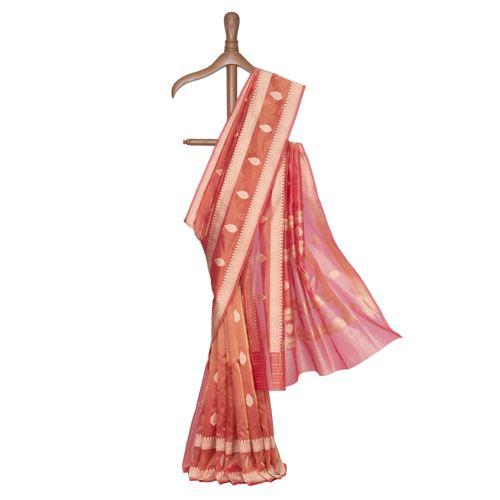 Kashvi Silk Tissue Banarasi Handwoven Saree