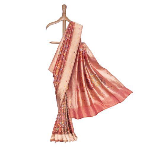 Baroque Silk Tissue Banarasi Handwoven Saree