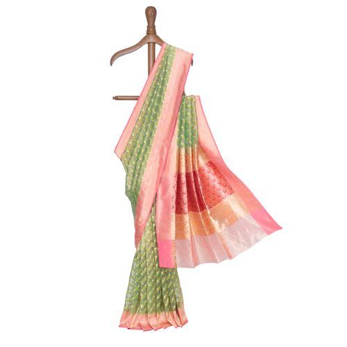 Harinee Silk Tissue Banarasi Handwoven Saree