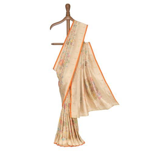 Jahnavi Silk Tissue Banarasi Handwoven Saree