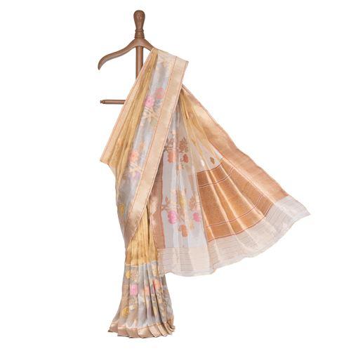 Kanakpriya Silk Tissue Banarasi Handwoven Saree