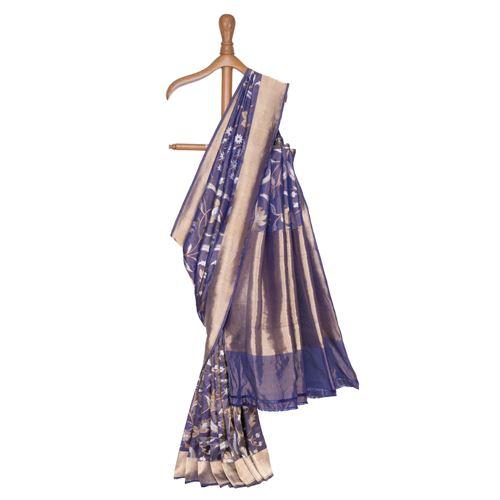 Gyasar Silk Tissue Banarasi Handwoven Saree