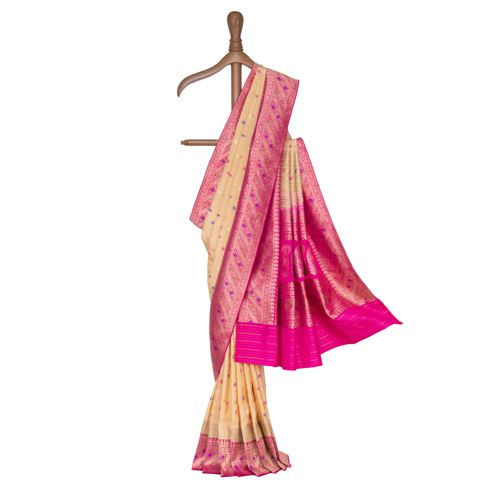 Ruhani Silk Tissue Banarasi Handwoven Saree