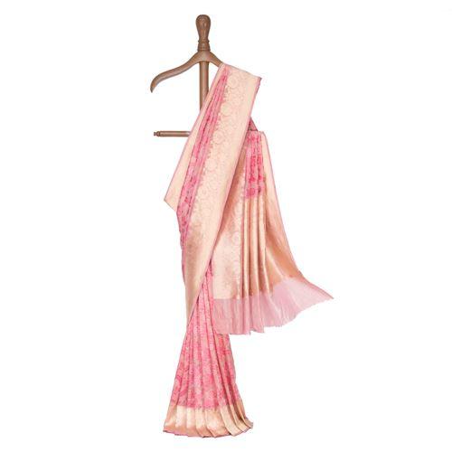 Jandi Silk Tissue Banarasi Handwoven Saree
