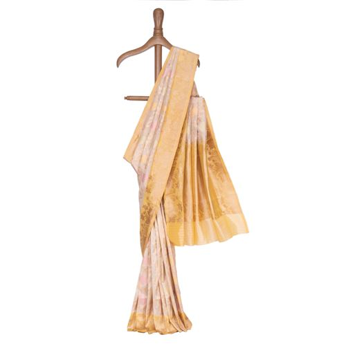Kavni Silk Tissue Banarasi Handwoven Saree