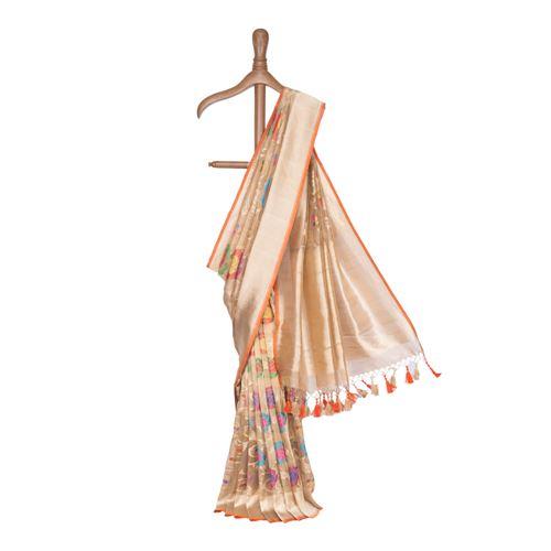Hiranmayee Silk Tissue Banarasi Handwoven Saree