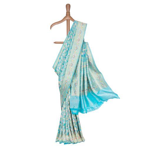 Baroque Banarasi Handwoven Silk Tissue Saree