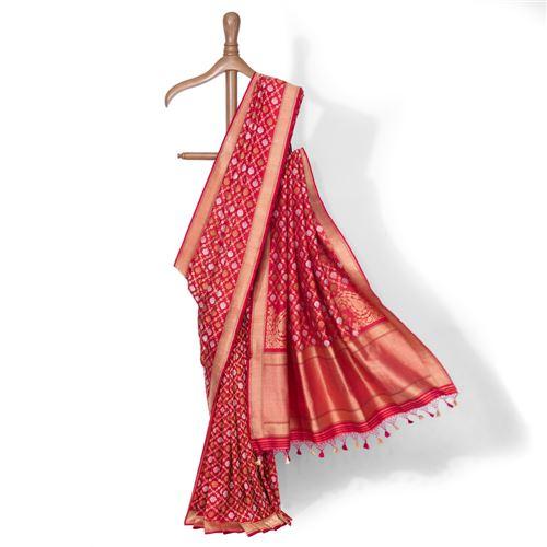 Alale Real Zari Banarasi Handwoven Silk Saree