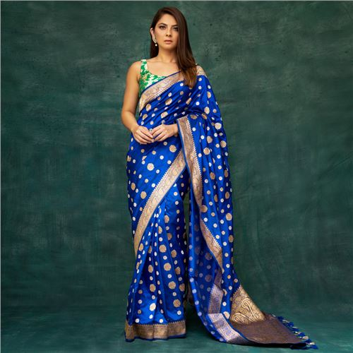 Chandra Banarasi Handwoven Silk Saree