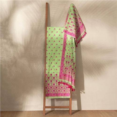 Lubna Mint Candy Banarasi Handwoven Cotton Suit Set