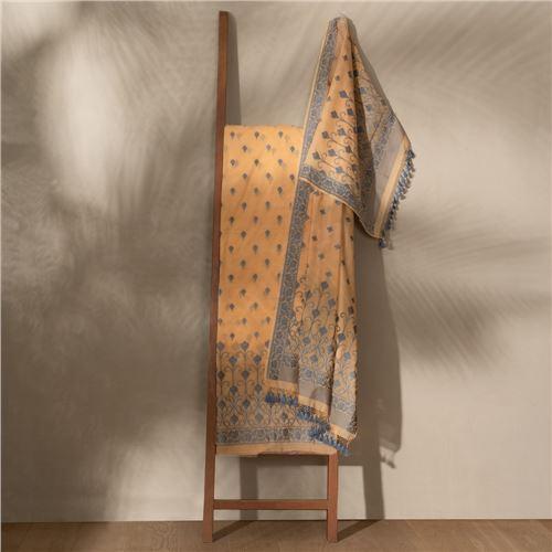 Lubna Autumn Glory Banarasi Handwoven Cotton Suit Set