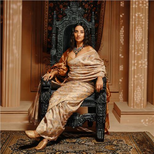 Sher-o-Khorshed Baroque Lilac Real Zari Silk Saree